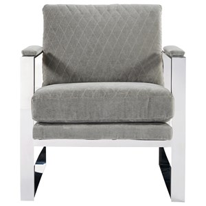 Corbin Accent Chair with Stainless Steel Frame