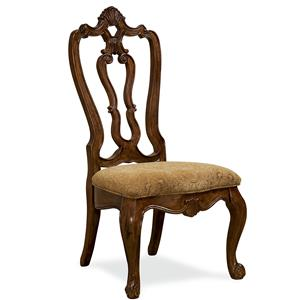 Universal Villa Cortina Carved Back Side Chair