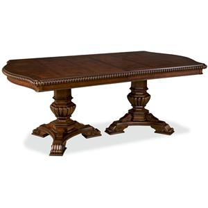 Double Pedestal Dining Room Table With Three Leaves