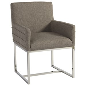 Cooper Arm Chair with Polished Chrome Base
