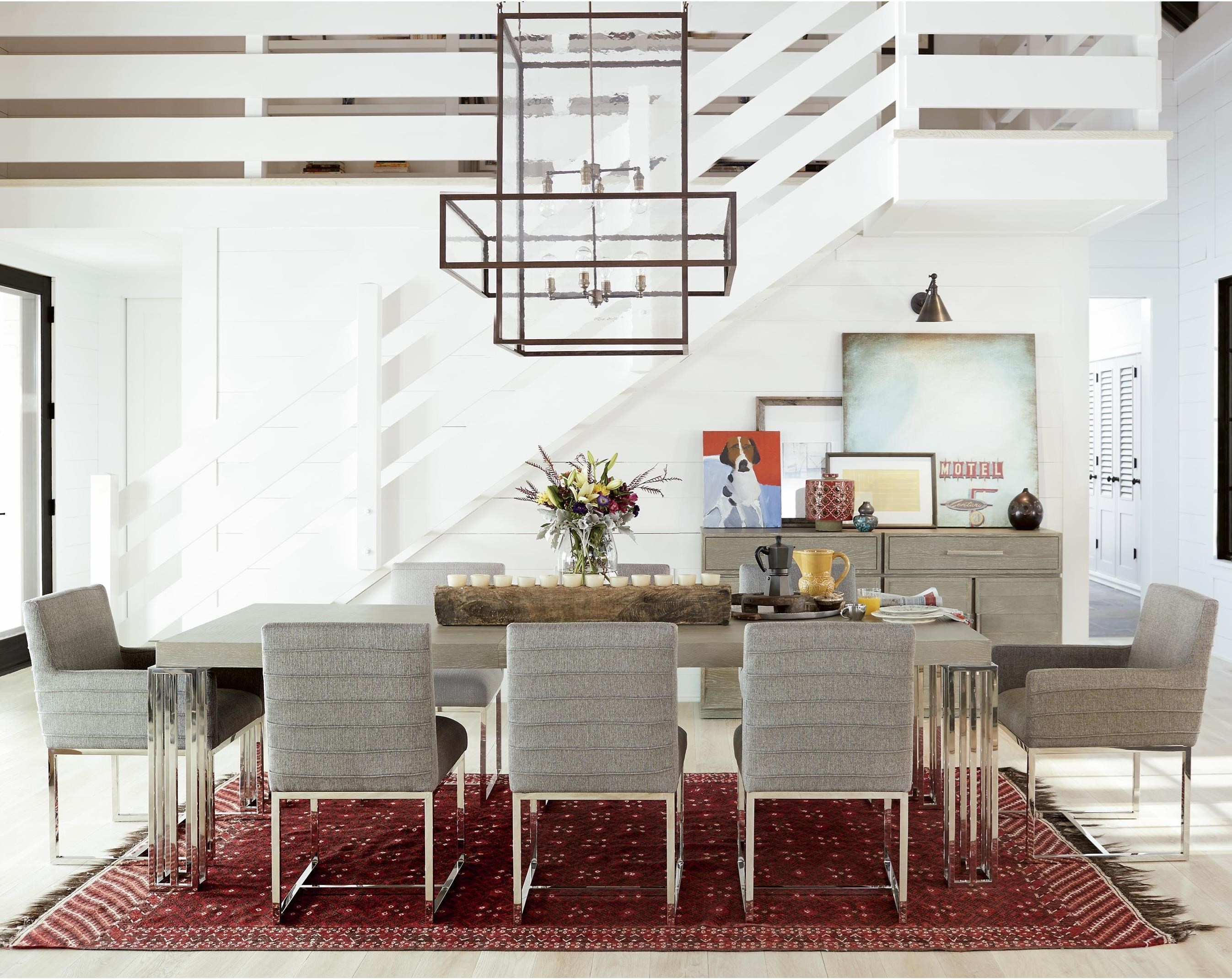 Zephyr 9 Piece Table and Chair Set by Universal at Powell's Furniture and Mattress