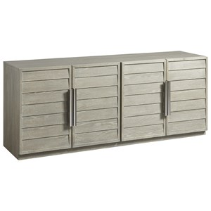 Entertainment Console with Louvered Doors