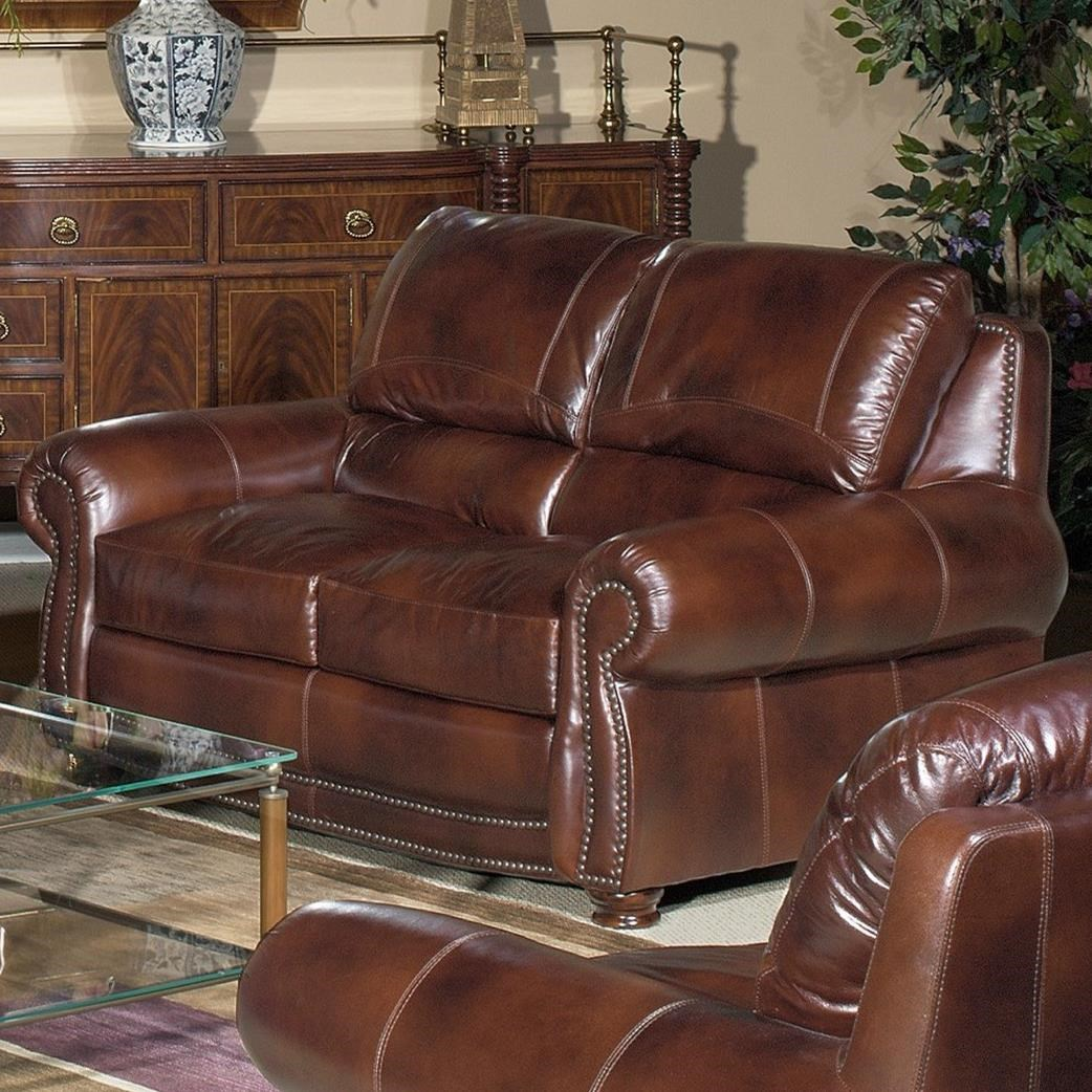 4650 Loveseat by USA Premium Leather at Wilson's Furniture