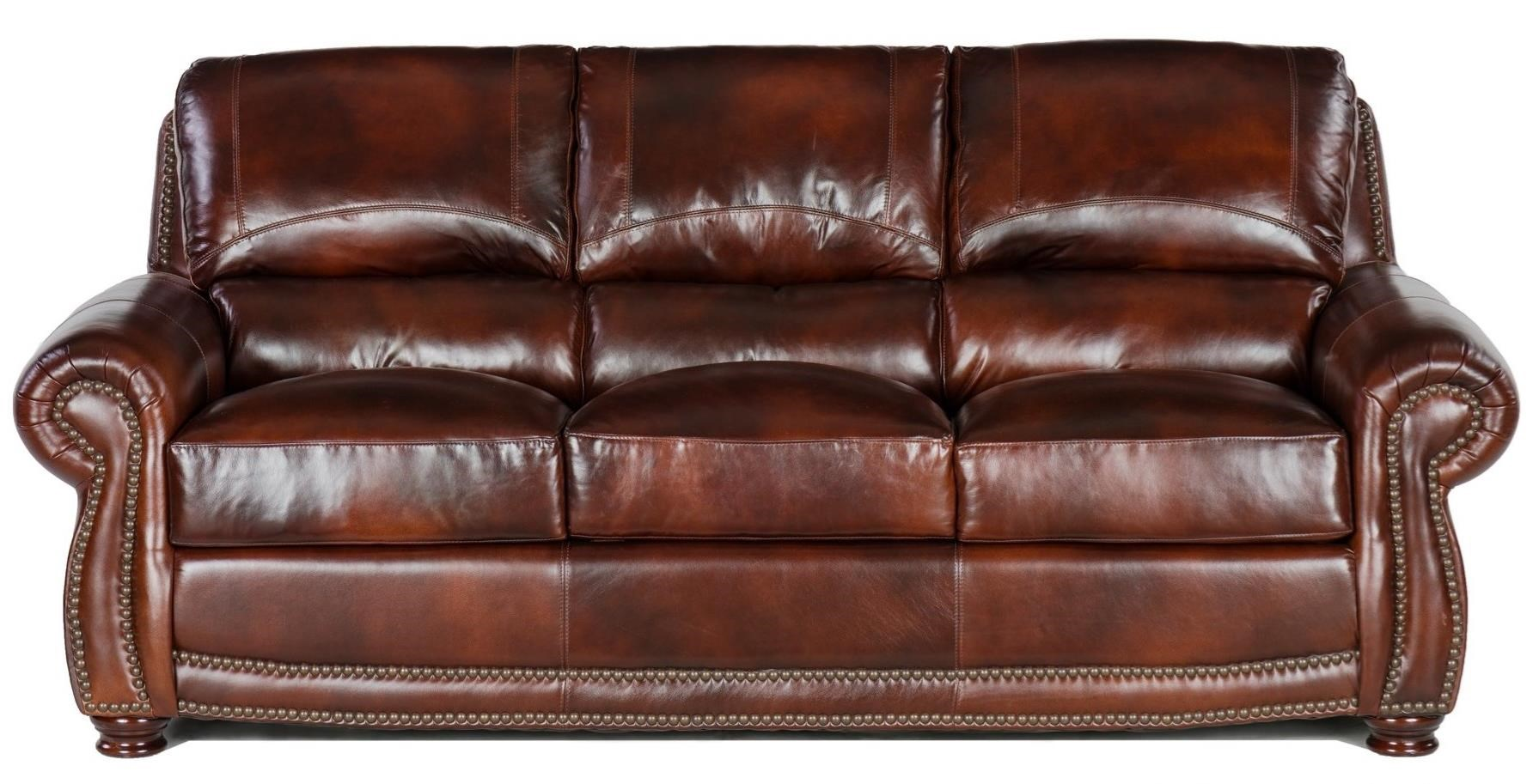4650 Sofa by USA Premium Leather at Wilson's Furniture