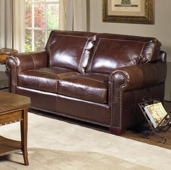 4955 Loveseat by USA Premium Leather at Wilson's Furniture