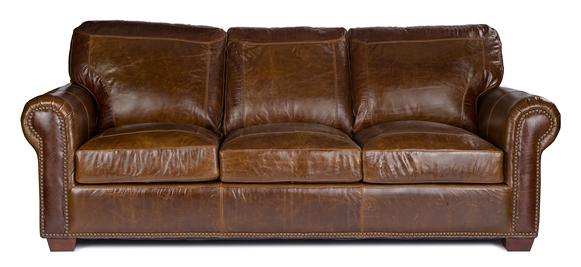 4955 Stationary Sofa by USA Premium Leather at Wilson's Furniture