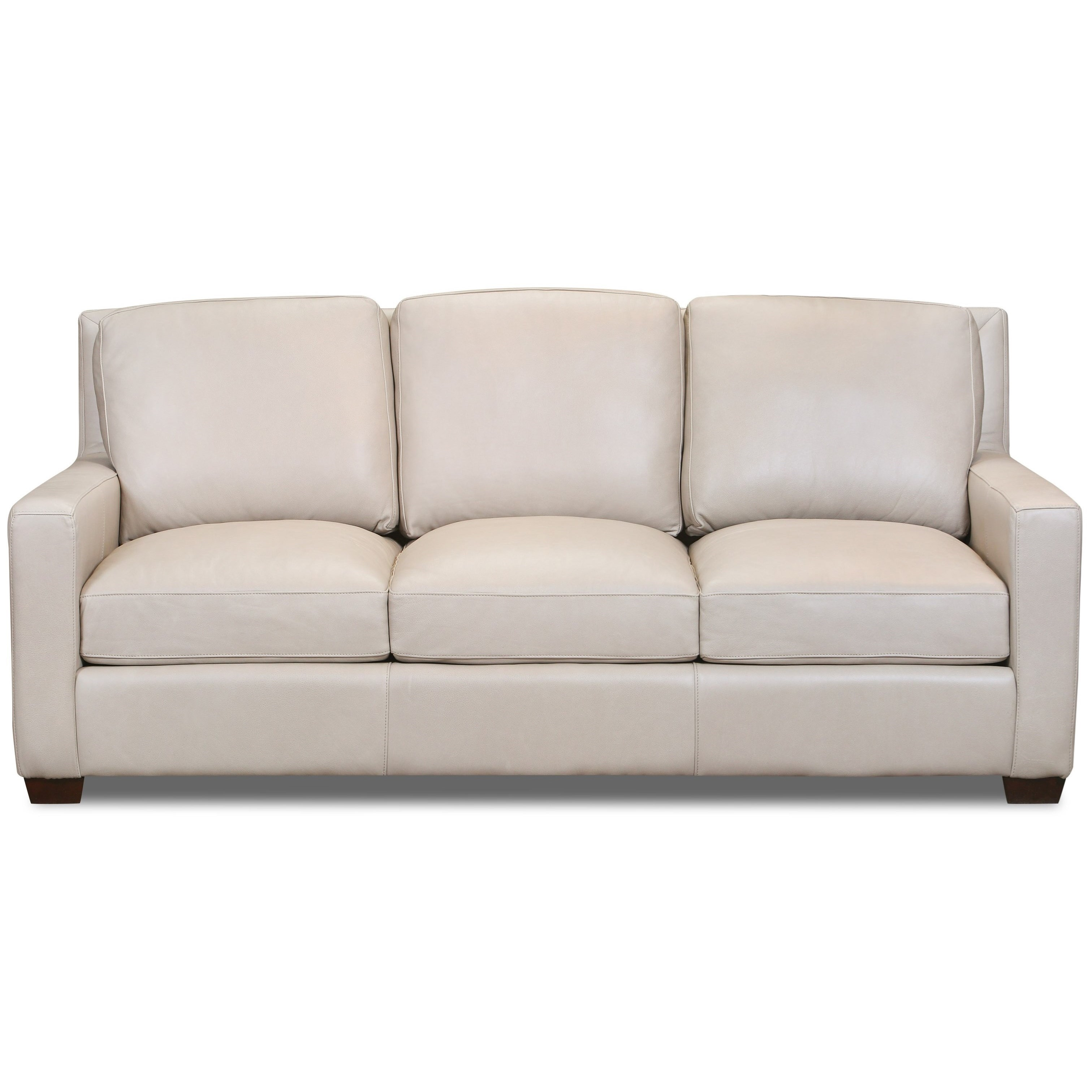 6350 Modern Top Grain Leather Sofa by USA Premium Leather at Godby Home Furnishings