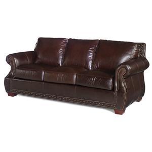 Traditional Stationary Sofa with Nailhead Trim