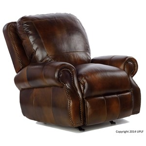 Traditional Rocker Recliner w/ Nailhead Trimming