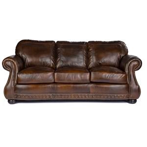 Stationary Sofa w/ Nailhead Trimming