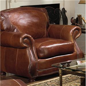 Tradtional Chair w/ Roll Arms & Nailhead Trim