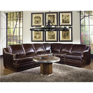 Sectional Sofa in 100% Leather Upholstery