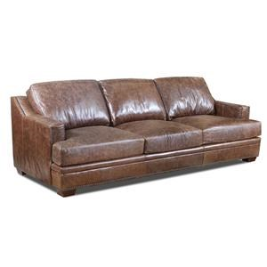 Ancient Brown Leather Sofa