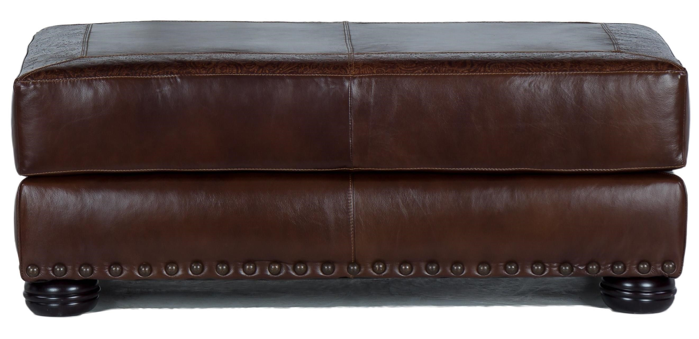 9750 Cocktail Ottoman by USA Premium Leather at Dream Home Interiors