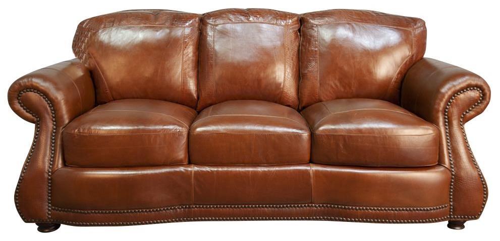 Rhodas Rhodas 100% Top Grain Leather Sofa by USA Premium Leather at Morris Home