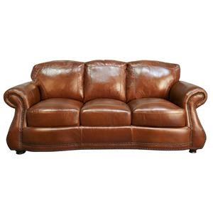 Rhodas 100% Top Grain Leather Sofa