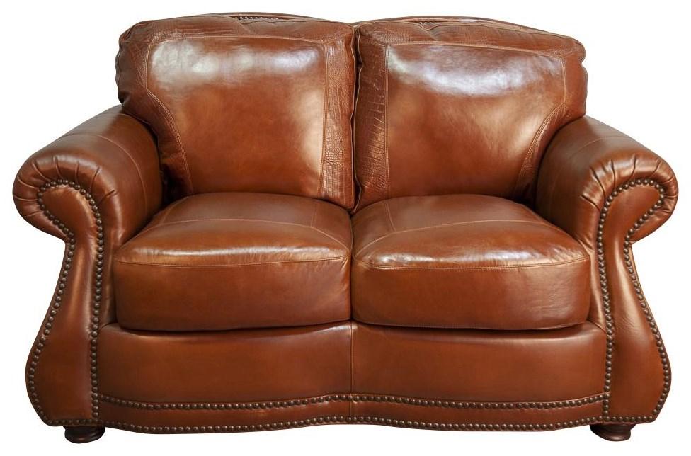 Rhodas Rhodas Top Grain 100% Leather Loveseat by USA Premium Leather at Morris Home