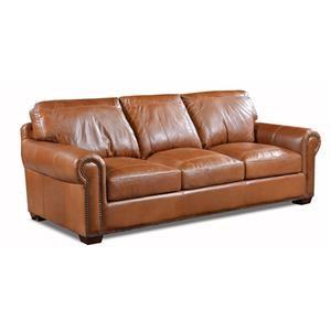 Saddle Queen Sleeper Leather Sofa