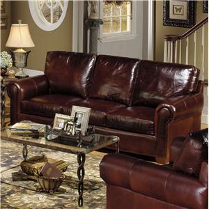 USA Premium Leather 8855 TELLURIDE Leather Stationary Sofa
