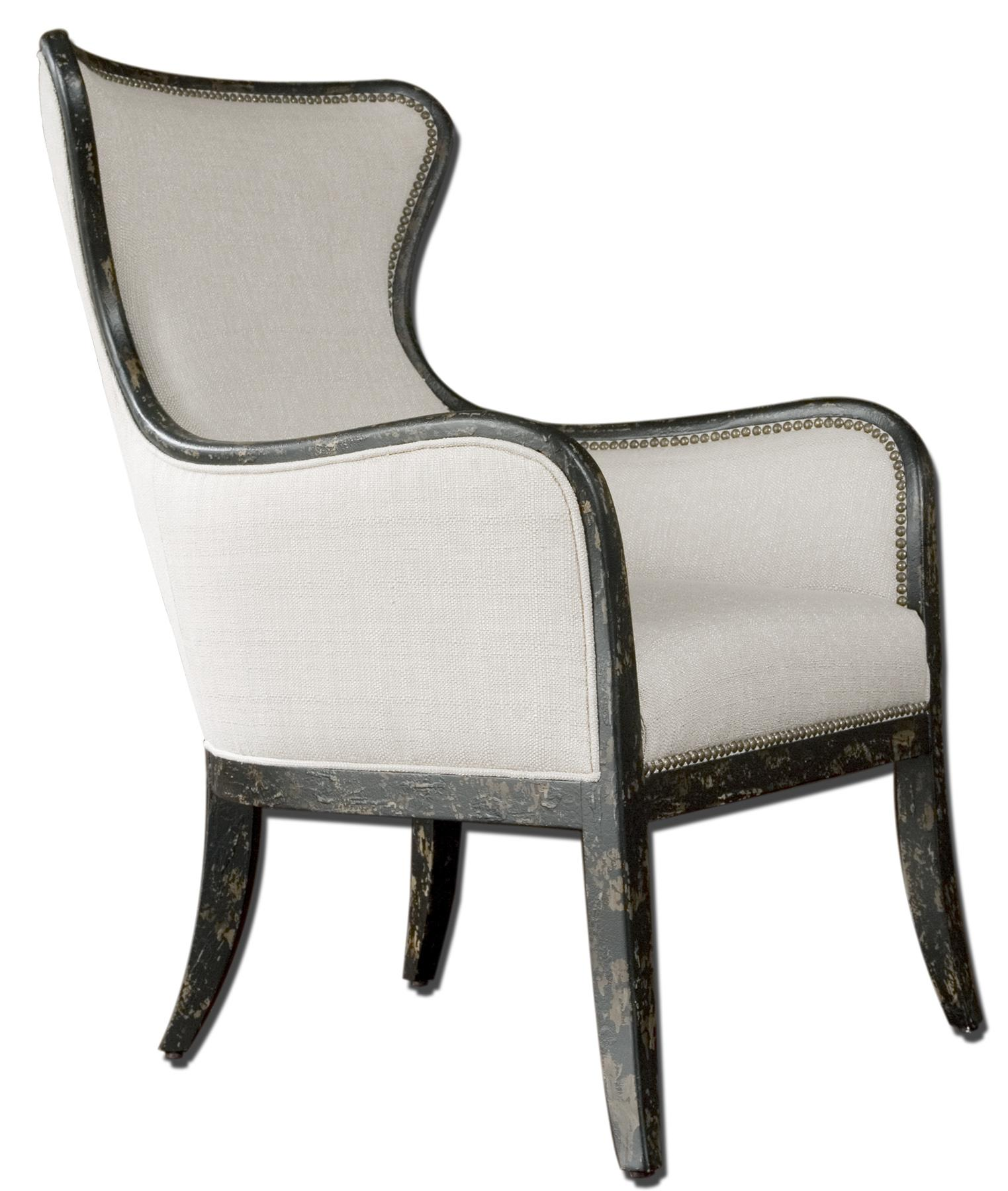 Accent Furniture - Accent Chairs Sandy Wing Chair by Uttermost at Upper Room Home Furnishings