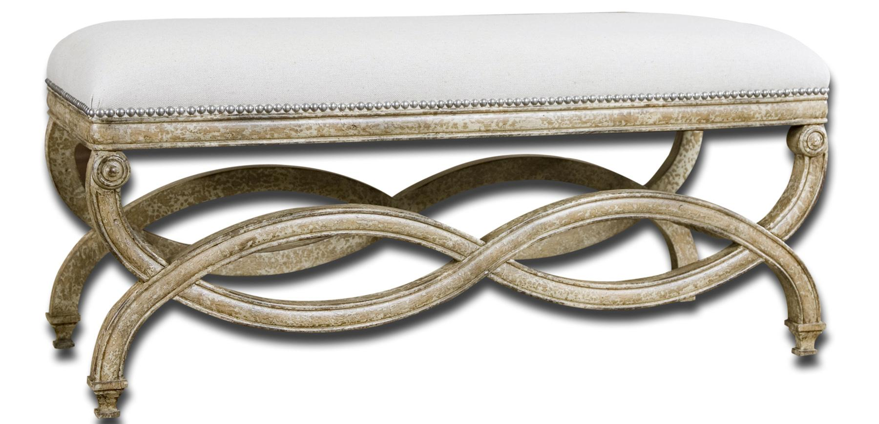 Accent Furniture - Benches Karline Bench by Uttermost at Michael Alan Furniture & Design