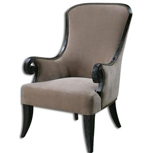 Uttermost Accent Furniture Kandy Taupe ArmChair