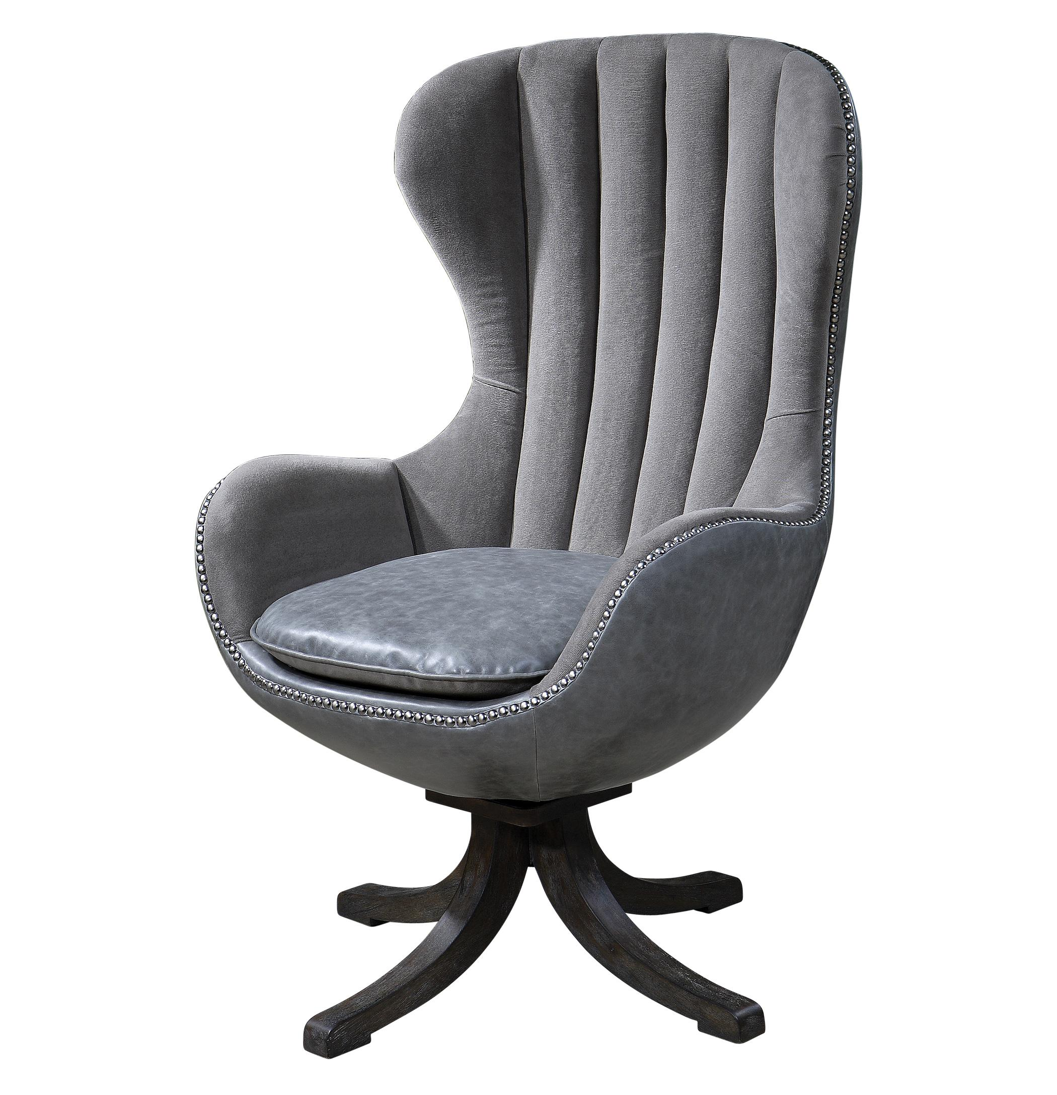 Accent Furniture - Accent Chairs Linford Swivel Chair by Uttermost at Michael Alan Furniture & Design