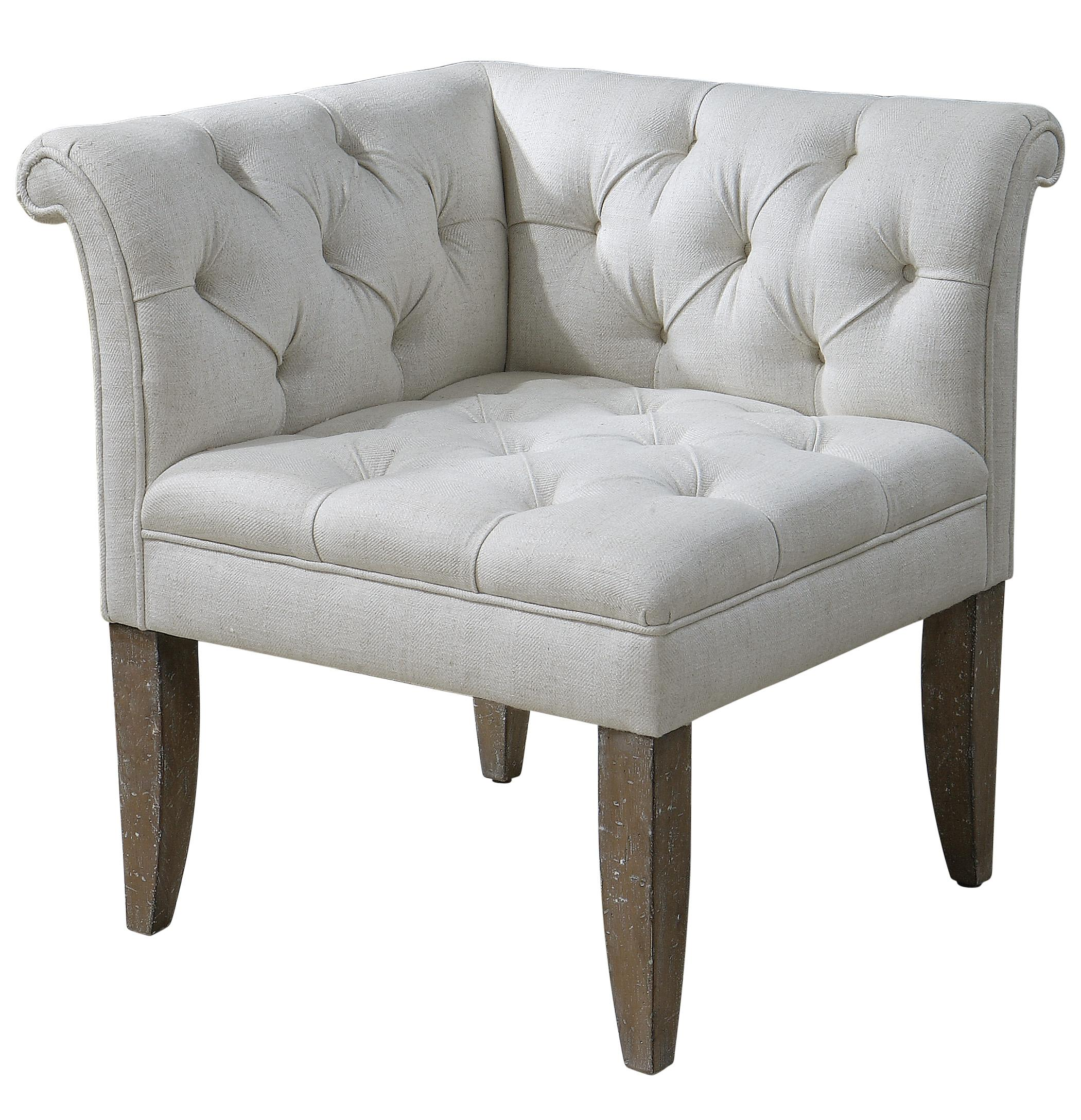 Accent Furniture - Accent Chairs Tahtesa Corner Chair by Uttermost at Suburban Furniture