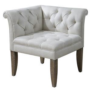 Uttermost Accent Furniture Tahtesa Corner Chair
