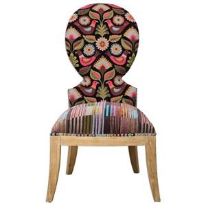 Cruzita Patterned Armless Chair