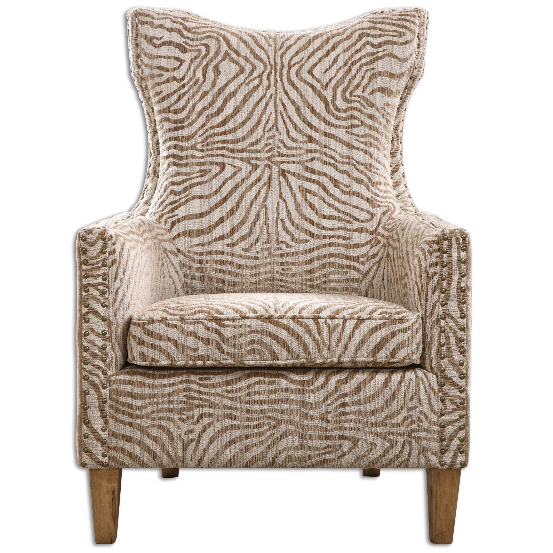 Accent Furniture - Accent Chairs Kiango Animal Pattern Armchair by Uttermost at Upper Room Home Furnishings