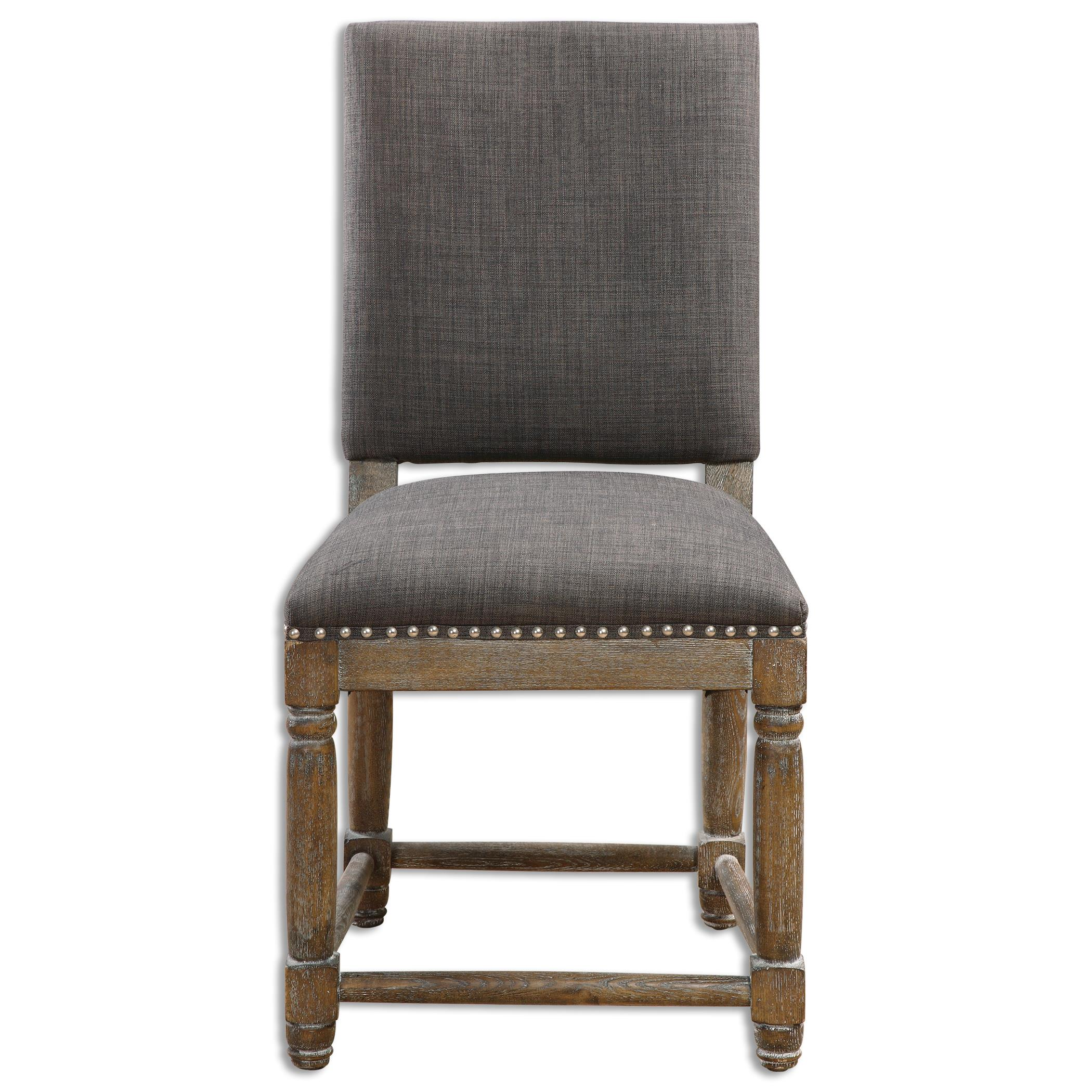Accent Furniture - Accent Chairs Laurens Gray Accent Chair by Uttermost at Furniture Superstore - Rochester, MN
