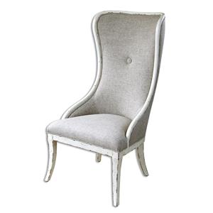 Uttermost Accent Furniture Selam Aged Wing Chair