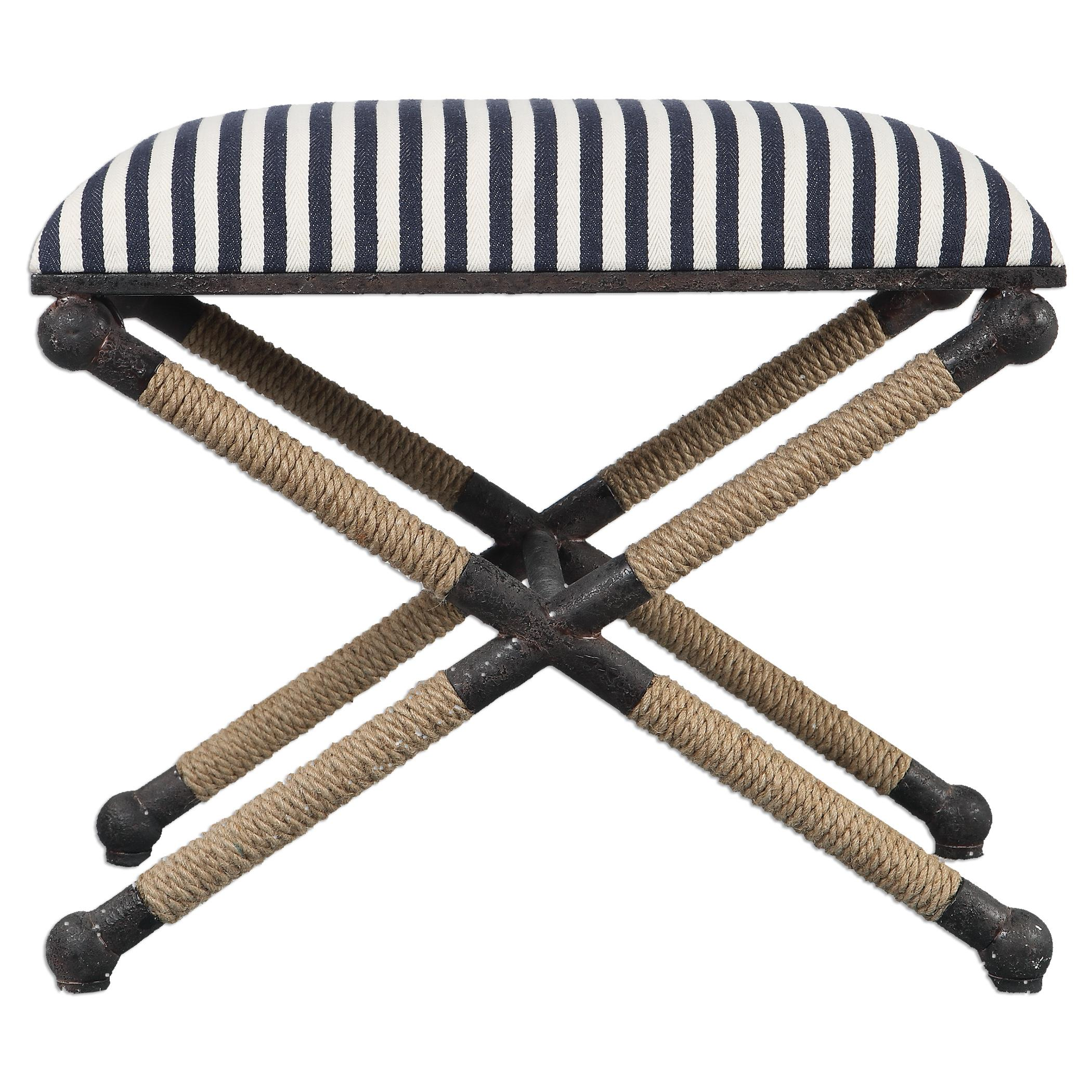 Accent Furniture - Benches Braddock Small Bench by Uttermost at Reid's Furniture