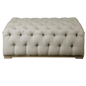 Kaniel Tufted Antique White Ottoman