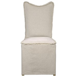 Armless Chair with Slipcover