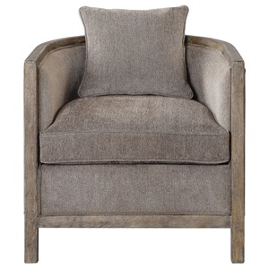 Viaggio Gray Chenille Accent Chair