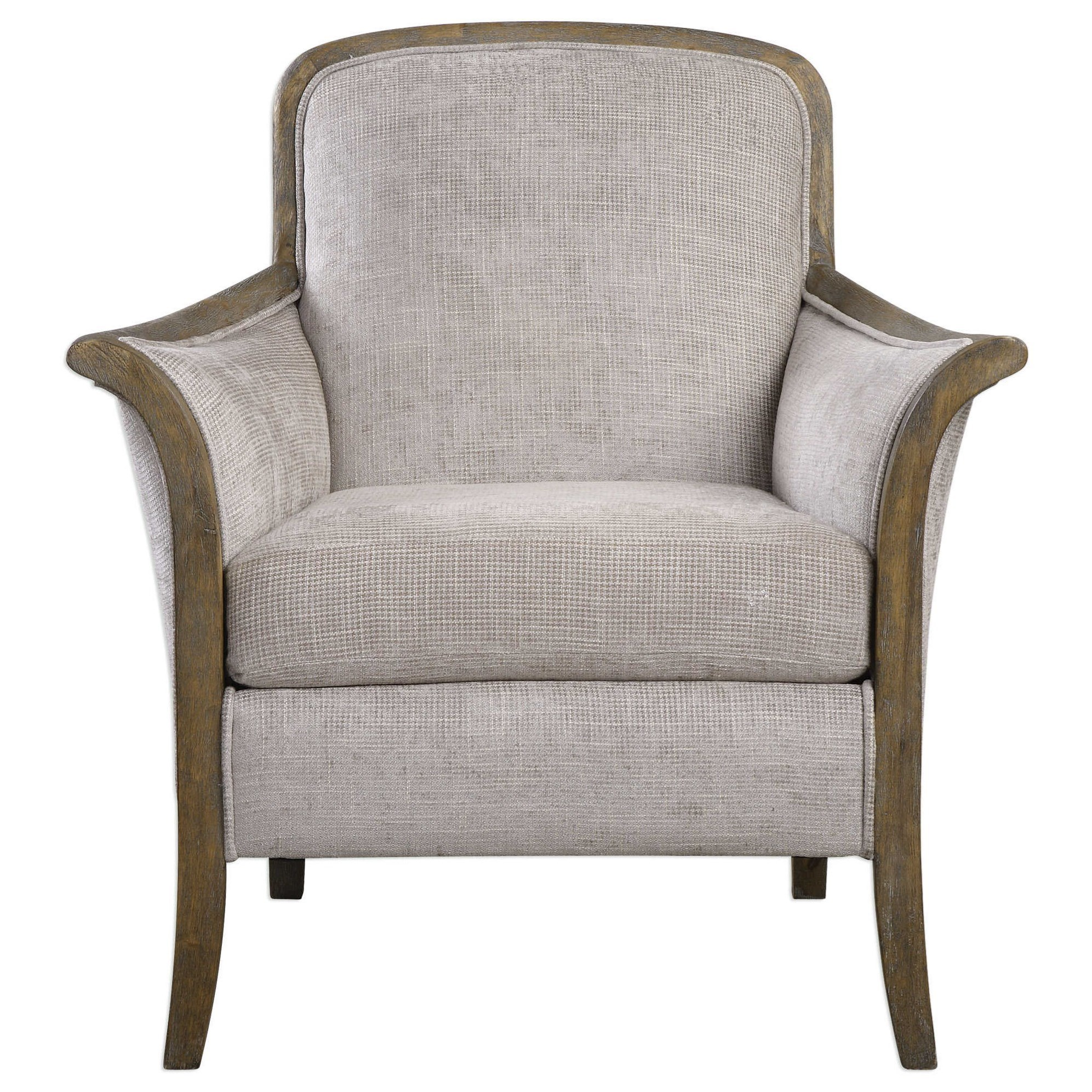 Accent Furniture - Accent Chairs Brittoney Taupe Armchair by Uttermost at O'Dunk & O'Bright Furniture