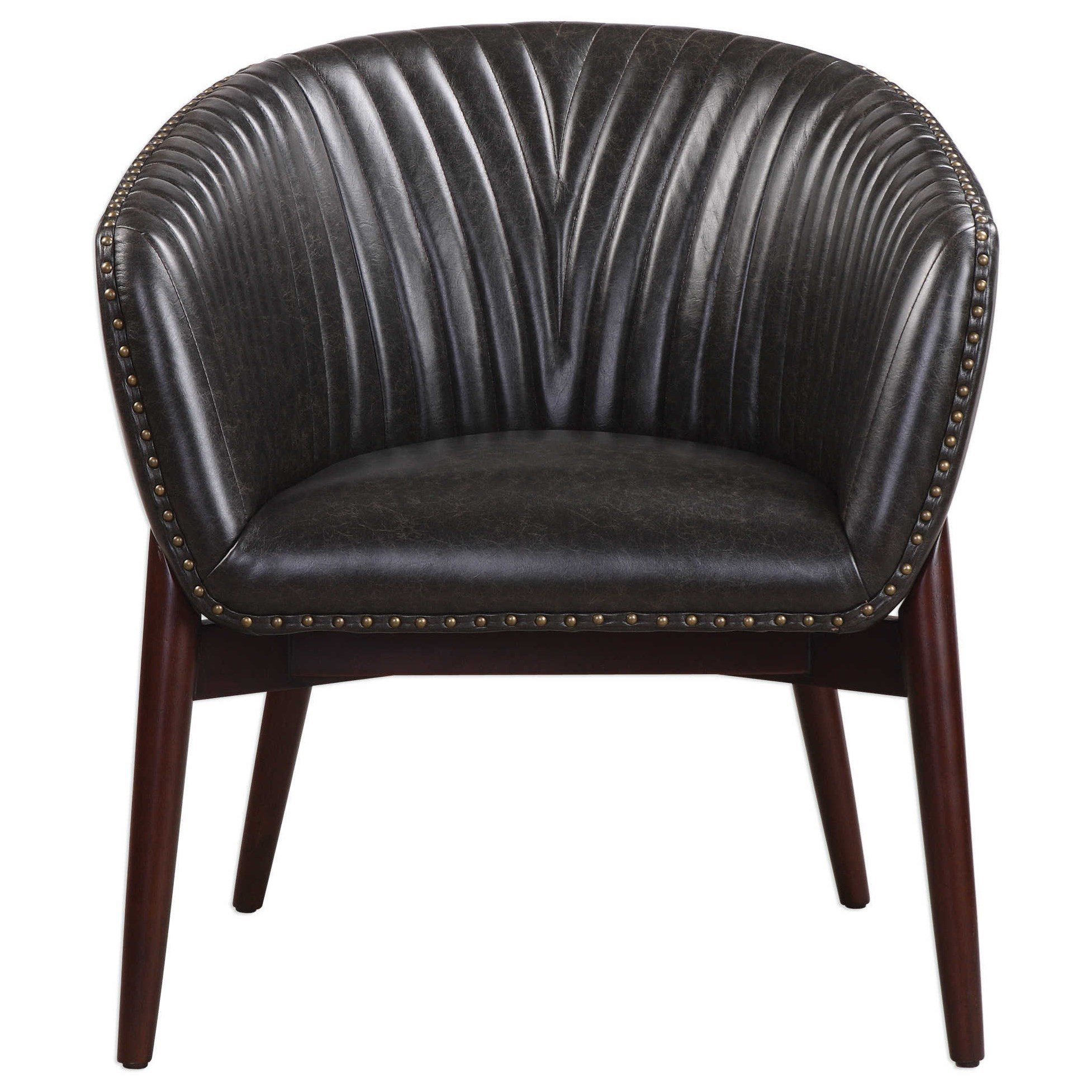 Accent Furniture - Accent Chairs Anders Chenille Accent Chair by Uttermost at Michael Alan Furniture & Design