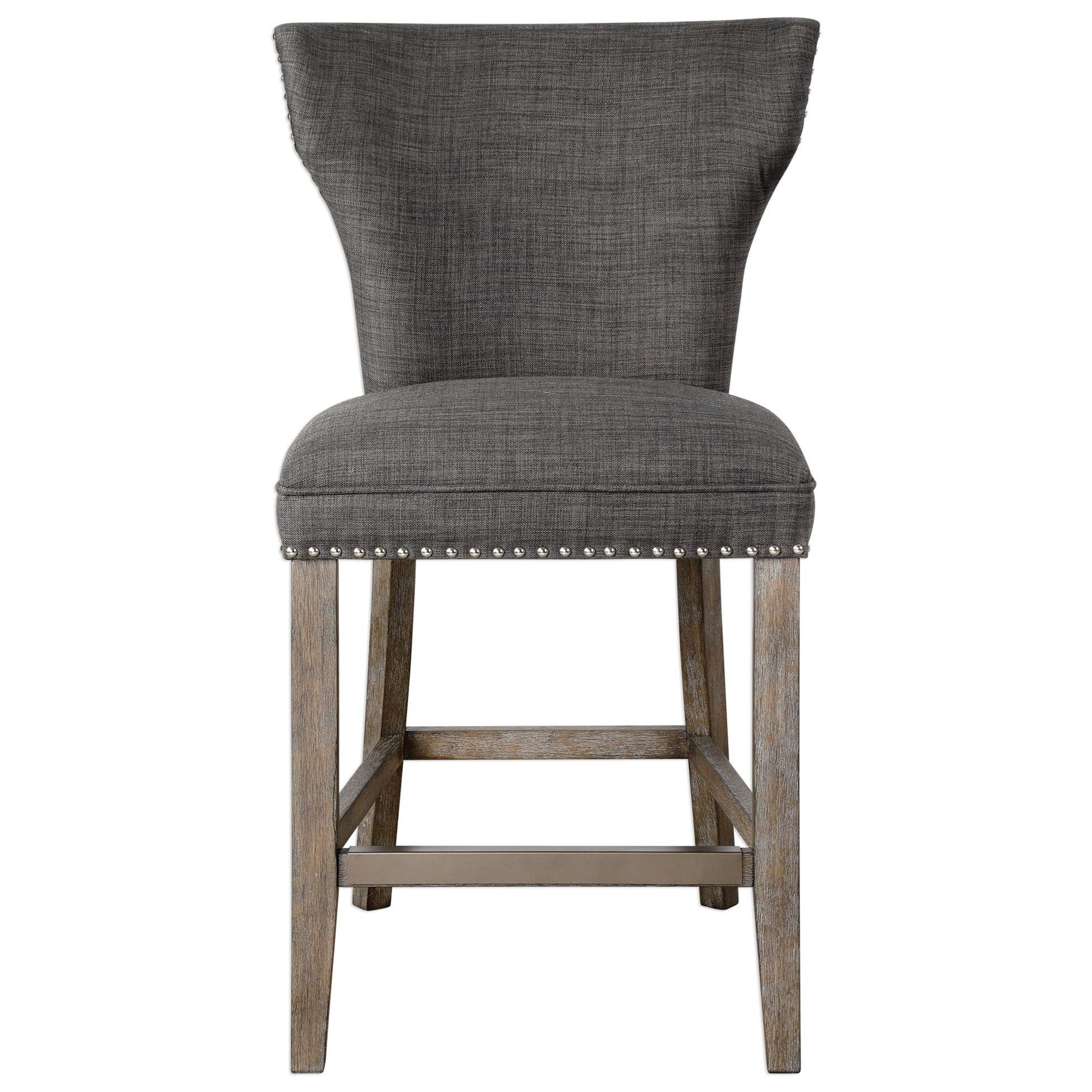Accent Furniture - Stools Arnaud Charcoal Counter Stool by Uttermost at O'Dunk & O'Bright Furniture