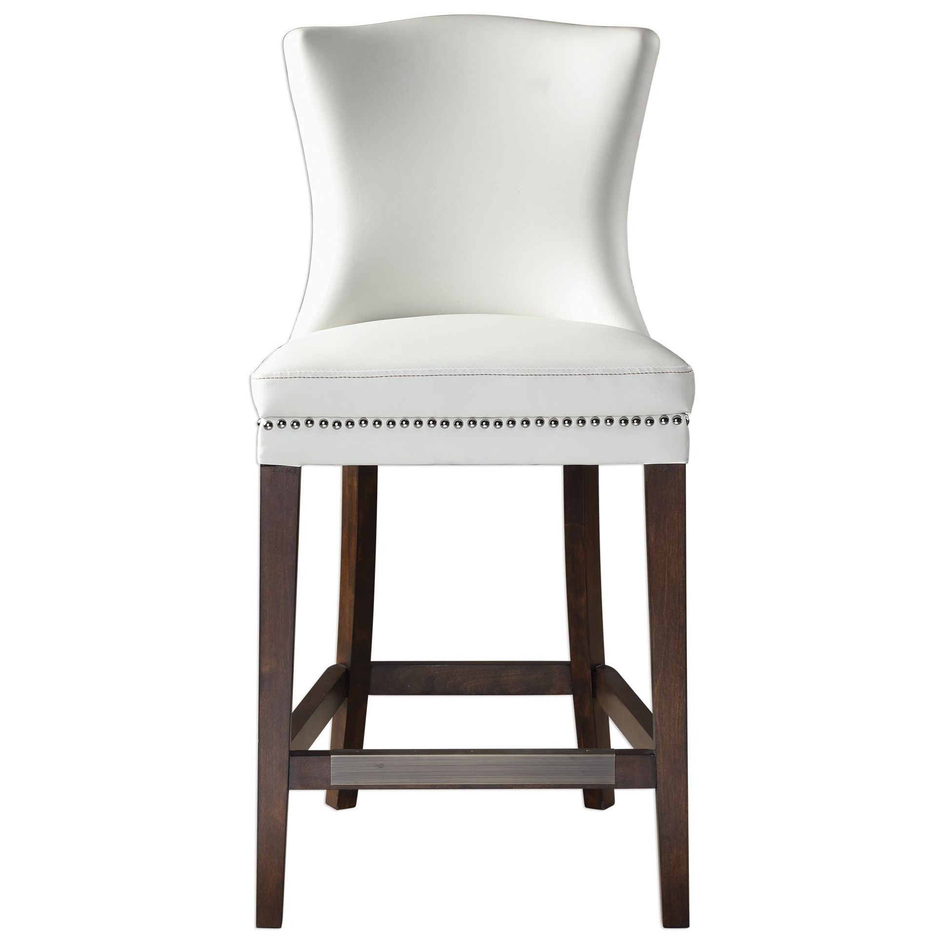 Accent Furniture - Stools Dariela White Counter Stool by Uttermost at O'Dunk & O'Bright Furniture