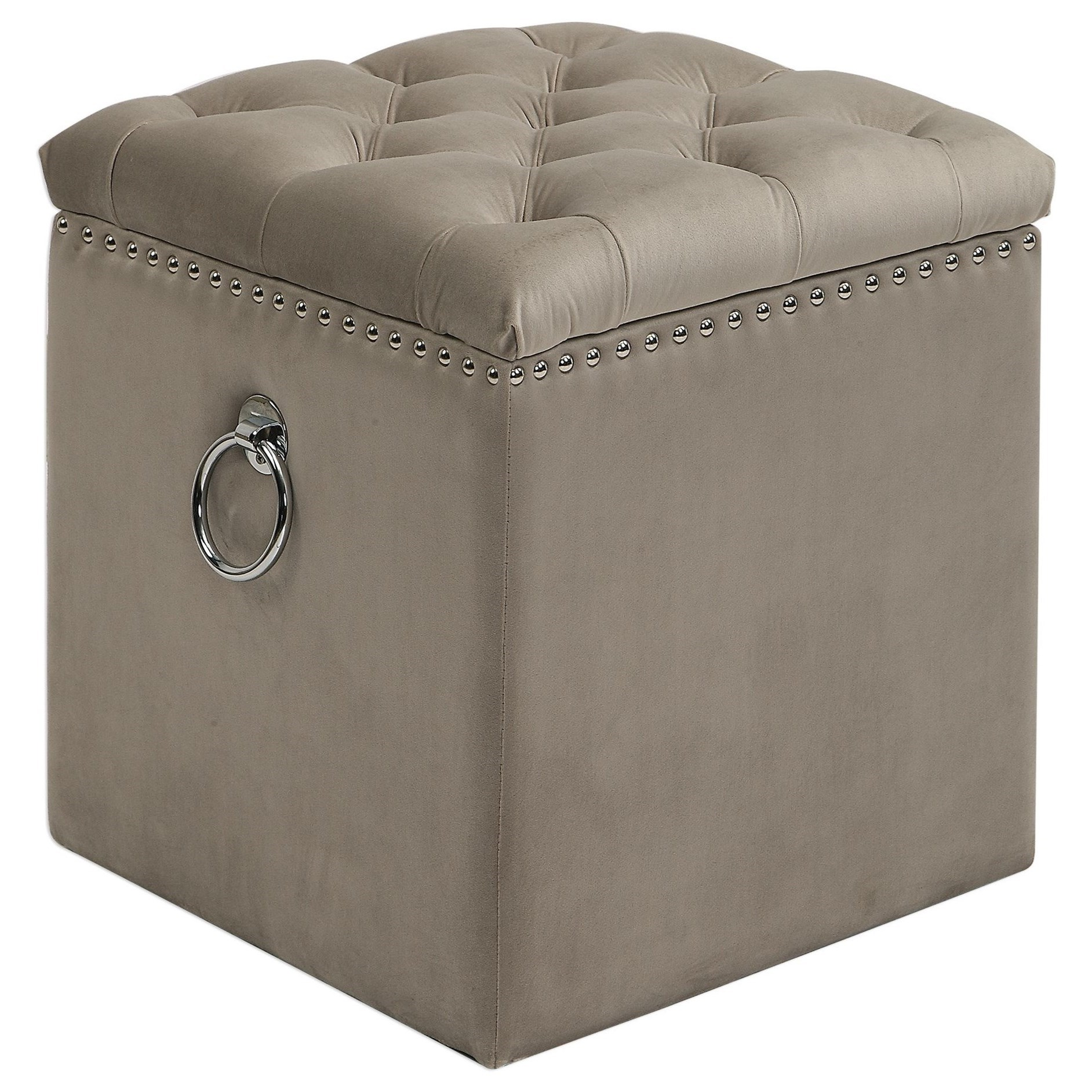 Accent Furniture - Ottomans Talullah Tufted Storage Ottoman by Uttermost at Del Sol Furniture
