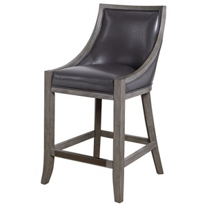 Elowen Leather Counter Stool