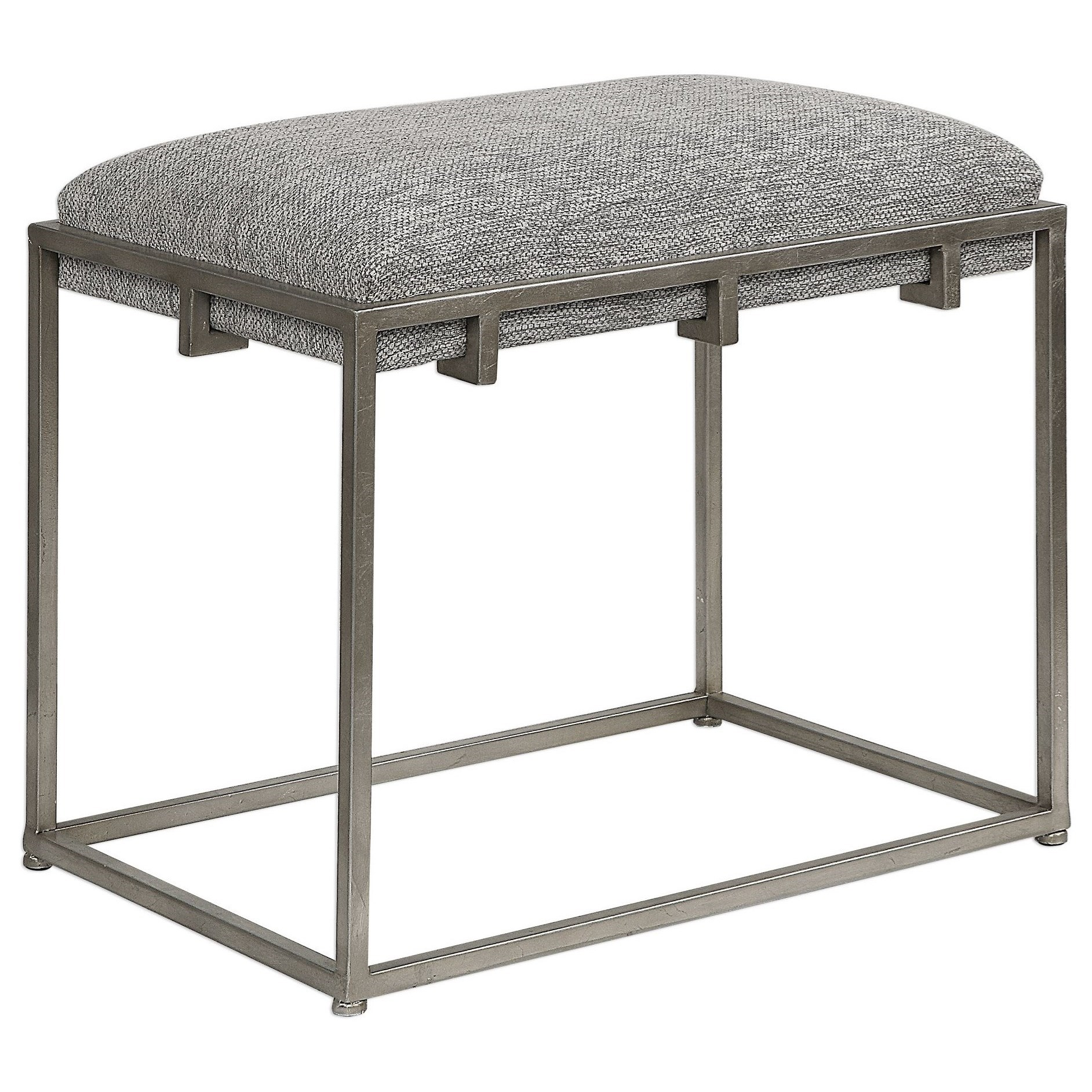 Accent Furniture - Benches Edie Silver Small Bench by Uttermost at Upper Room Home Furnishings
