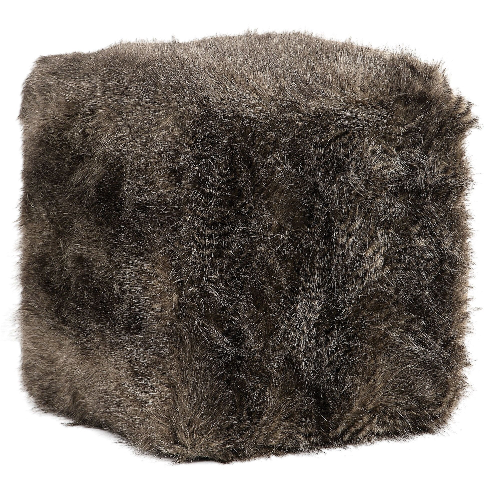 Accent Furniture - Ottomans Jayna Fur Ottoman by Uttermost at O'Dunk & O'Bright Furniture
