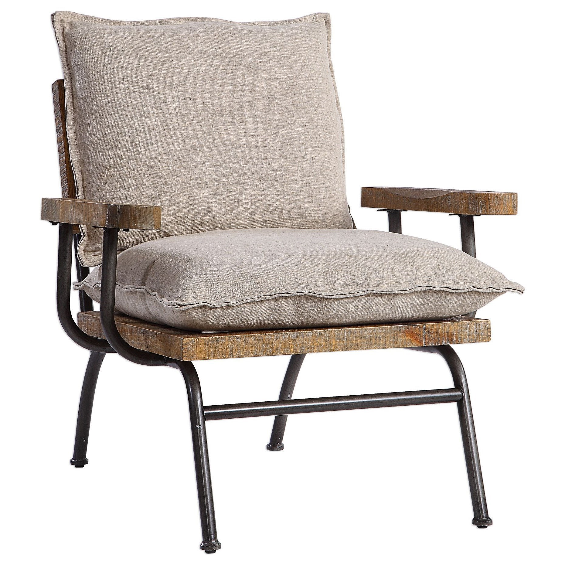 Accent Furniture - Accent Chairs Declan Industrial Accent Chair by Uttermost at Upper Room Home Furnishings