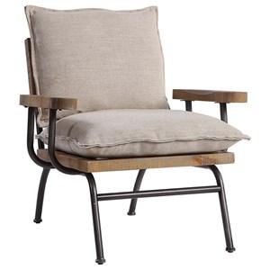 Declan Industrial Accent Chair