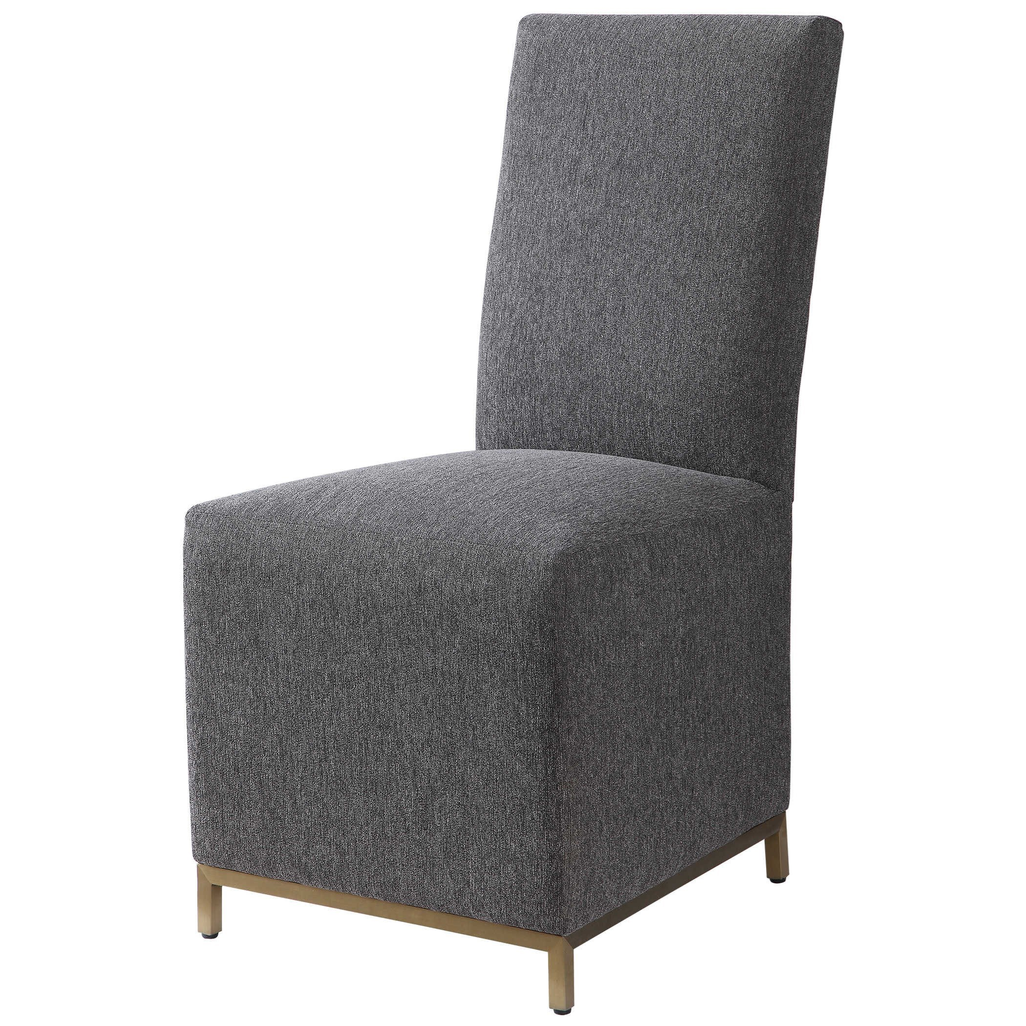 Accent Furniture Gerard Armless Charcoal Dining Chair by Uttermost at Furniture Superstore - Rochester, MN