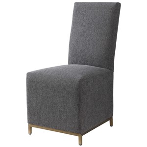 Gerard Armless Charcoal Dining Chair