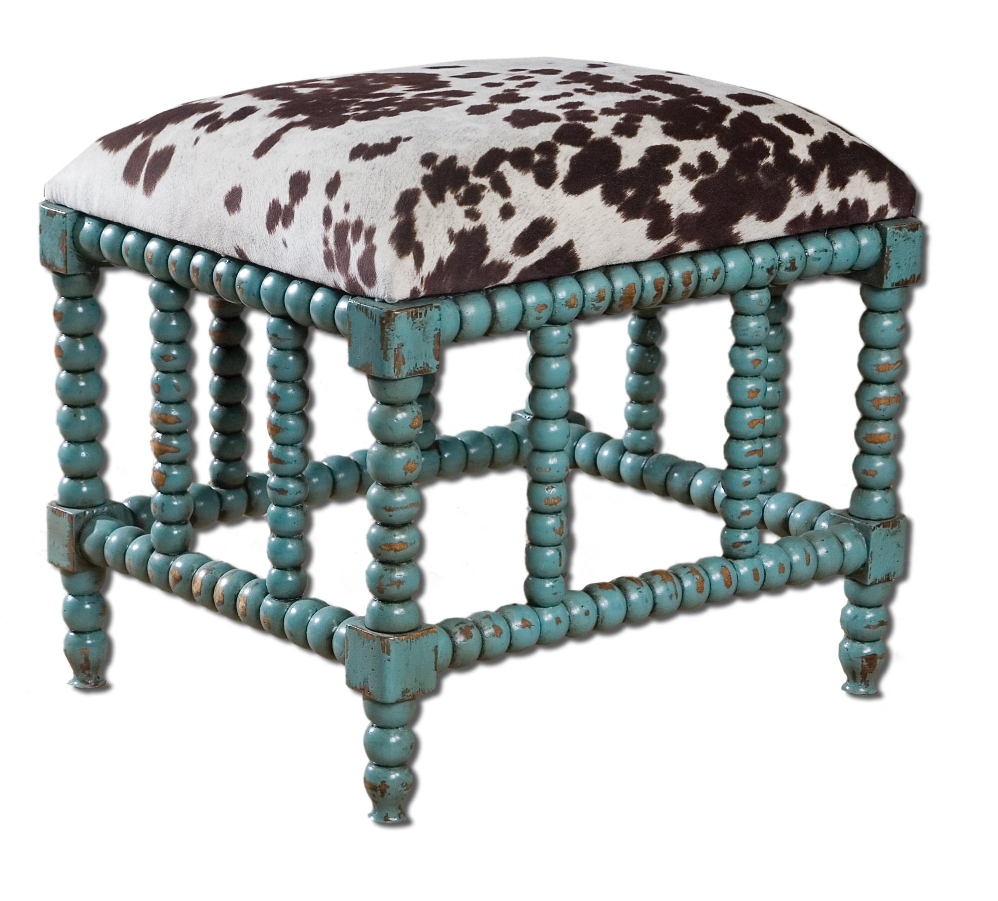 Accent Furniture - Benches Chahna Small Bench by Uttermost at Dunk & Bright Furniture